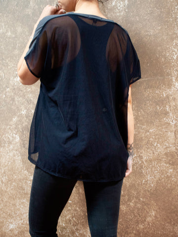 Bianca Rachele Sheer Back Box Top