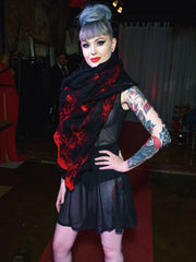 BlckBts Felted BLK/Crimson Scarf