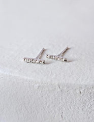 Nuance Crystal Bar Stud Earring