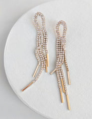 Nuance Crystal Loop Fringe Earrings
