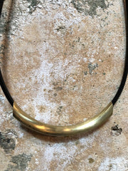 Moon + Arrow Curve Tube Necklace