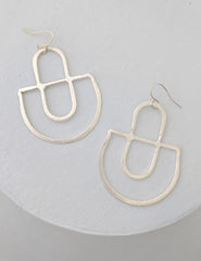 Nuance Cutout Crescent Drop Earrings