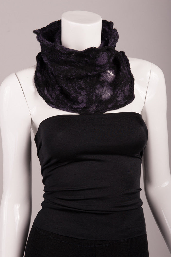 BlckBts Felted Purple Cowl Scarf