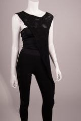 BlckBts Silk Asymmetric Top