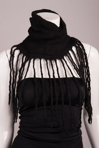BlckBts Felted Black Fringe Scarf