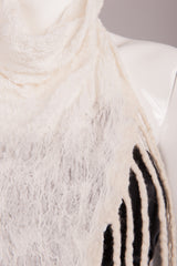 BlckBts Felted Cream Fringe Scarf