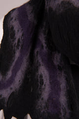 BlckBts Purple Open Felted Scarf with Fringe