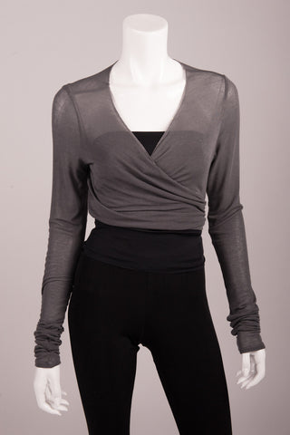 Bianca Rachele Wrap Cropped Sweater