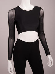 Bianca Rachele Mesh Long Sleeve Crop