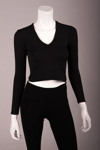 HE Collective Cropped Long Sleeve Top