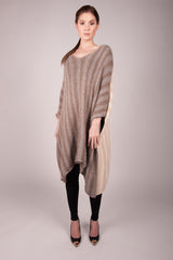 Stearns Knit Alpaca Two Tone Poncho (Multiple Colors Available)