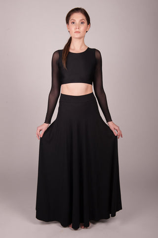 Orgotton Black Half Circle Skirt