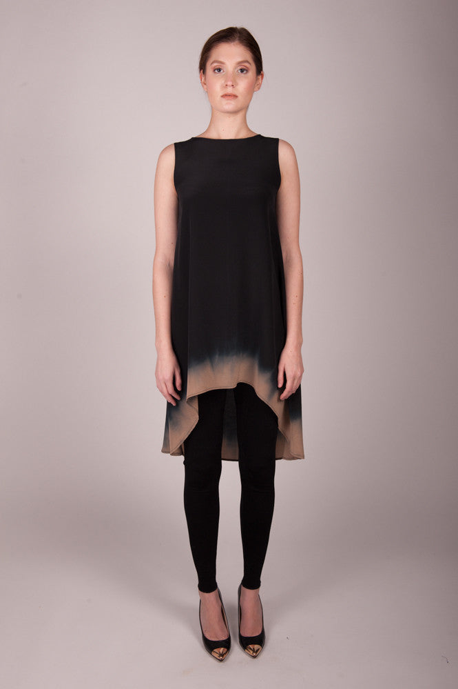 HE Collective Dipped Silk Dress