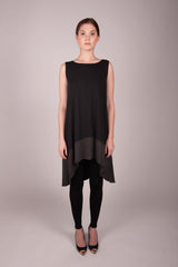 HE Collective Dip Dyed Hi-Low Knit Dress