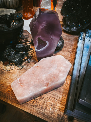 Witch's Way Pink Amethyst Coffin