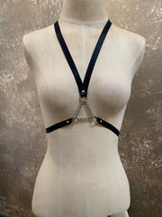 Tough Luv Triangle Chain T-Back Harness