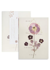"Greeting Card ""Violet Glow"" Thank You"