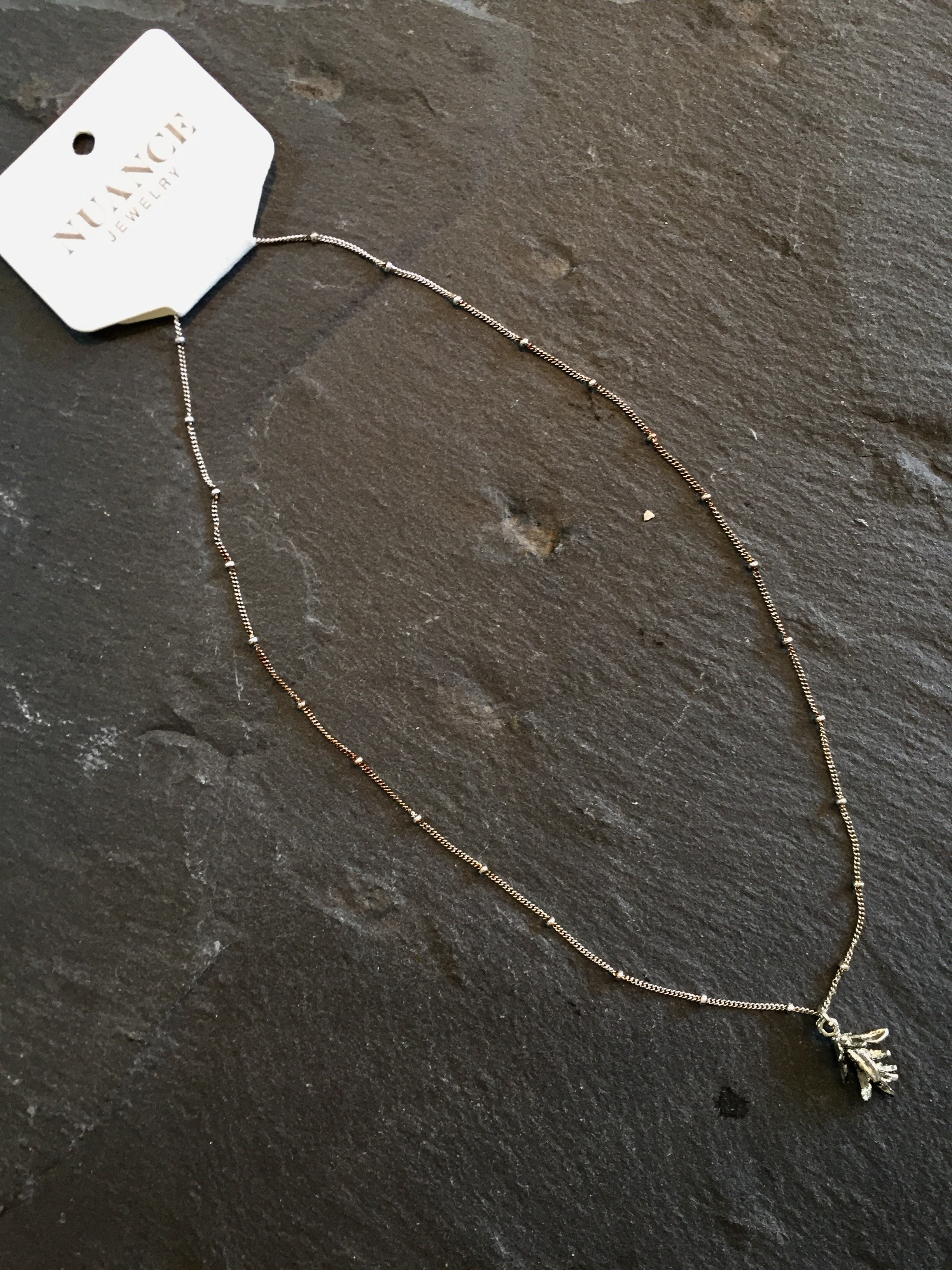 Nuance Silver Herb Necklaces