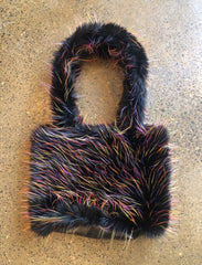 Moods and Madness Furry Multicolor Shoulder Bag