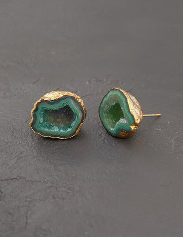 Nuance Druzy Plated Studs