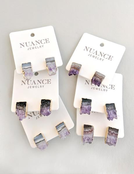 Nuance Geode Slab Post Earrings