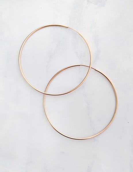 Nuance Gold-Filled Hoops