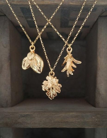 Nuance Gold Herb Necklaces