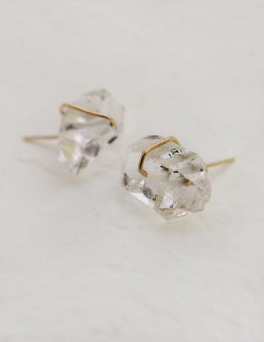 Nuance Herkimer Diamond Post Earrings