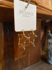 Nuance Gold Star Earrings
