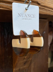 Nuance Round Two-Tone Earrings