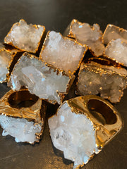 Nuance Gold Plated Stalactite Ring