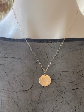 Vannucci Silver Disk Necklace