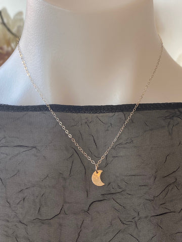 Vannucci Silver Mini Moon Necklace