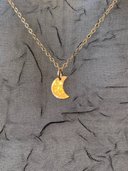 Vannucci Gold Mini Moon Necklace