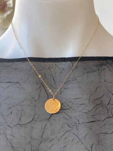 Vannucci Gold Disk Necklace