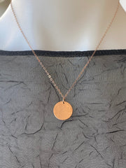 Vannucci Rose Gold Disk Necklace