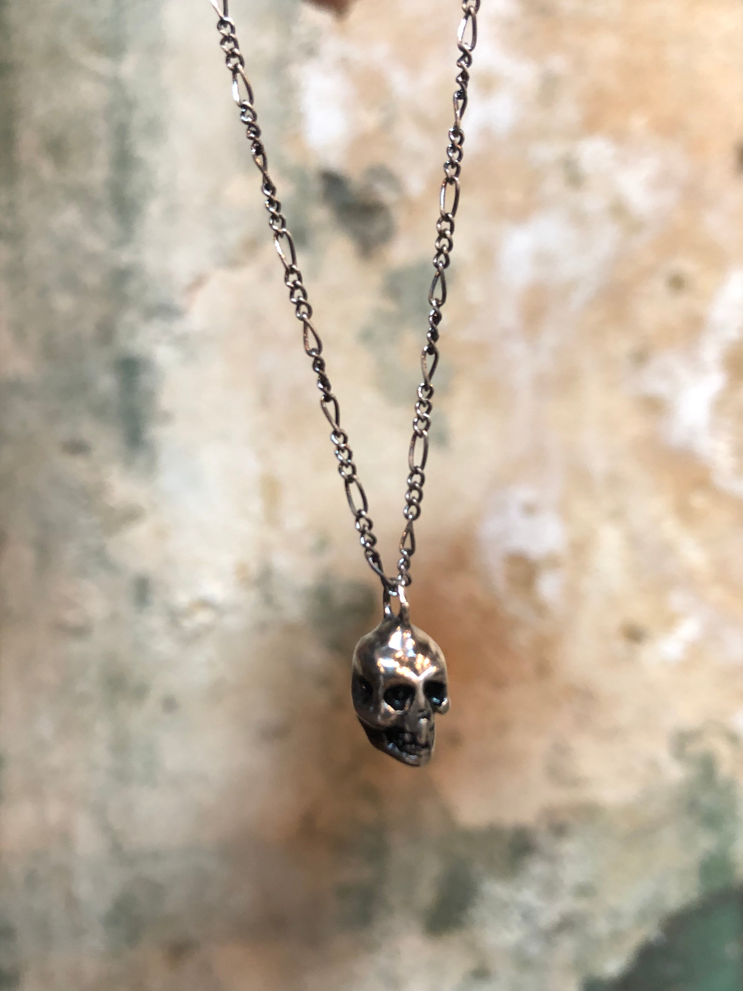Hellhound Jewelry Silver Skull Necklace