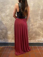 Orgotton Burgundy Half Circle Skirt