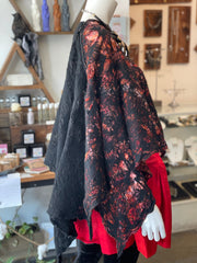 BlckBts Felted Douple Zip Poncho