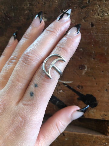 Hellhound Jewelry Luna Ring in Silver