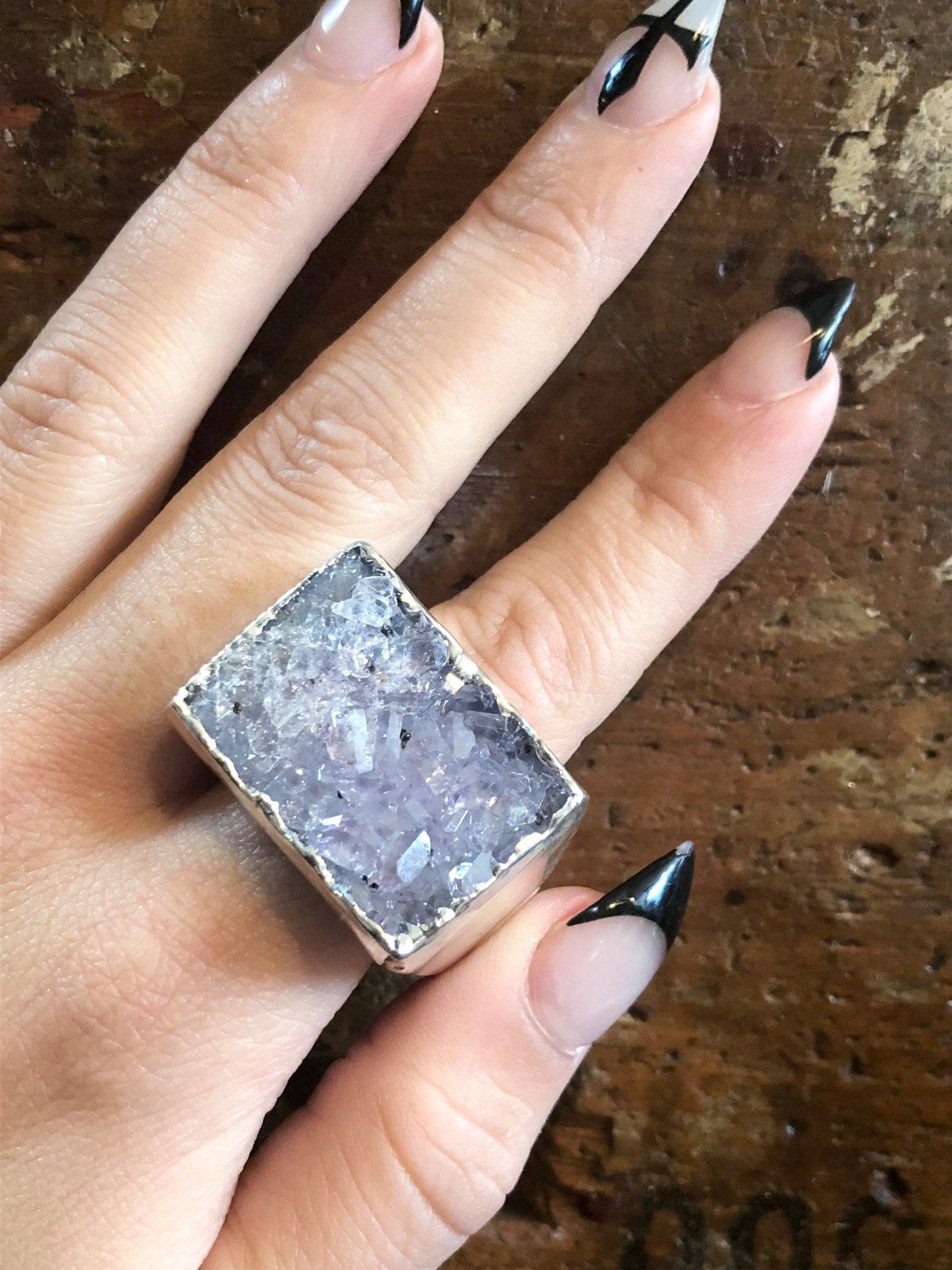 Nuance Lilac Silver Plated Ring