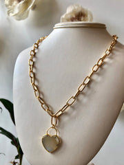 Nuance Heart Chain Necklace