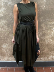 Sophi Reaptress Olive Maxi Dress