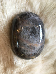 Witch's Way Black Moonstone Palm Stone