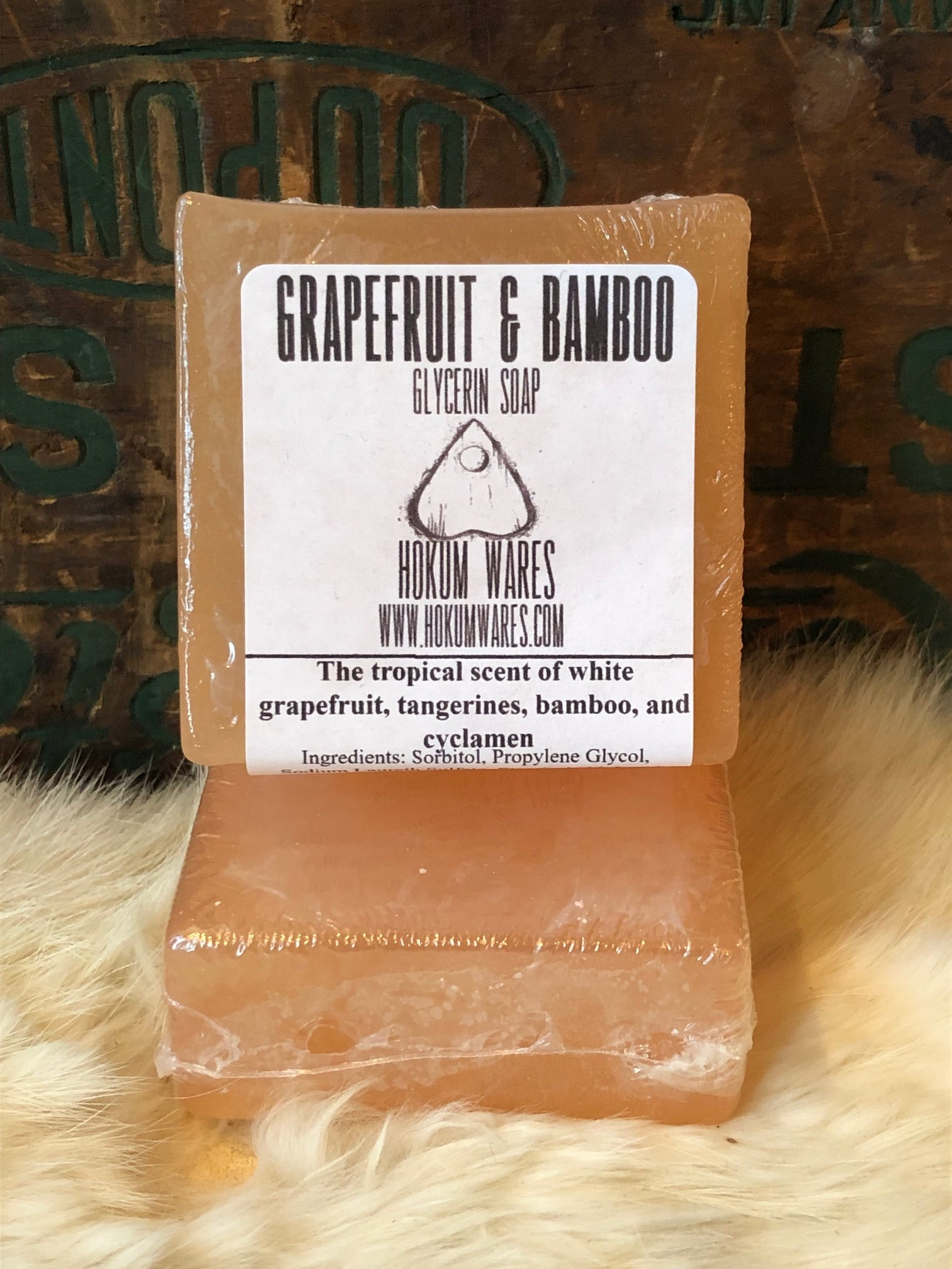 Hokum Wares Glycerin Soap in Grapefruit and Bamboo