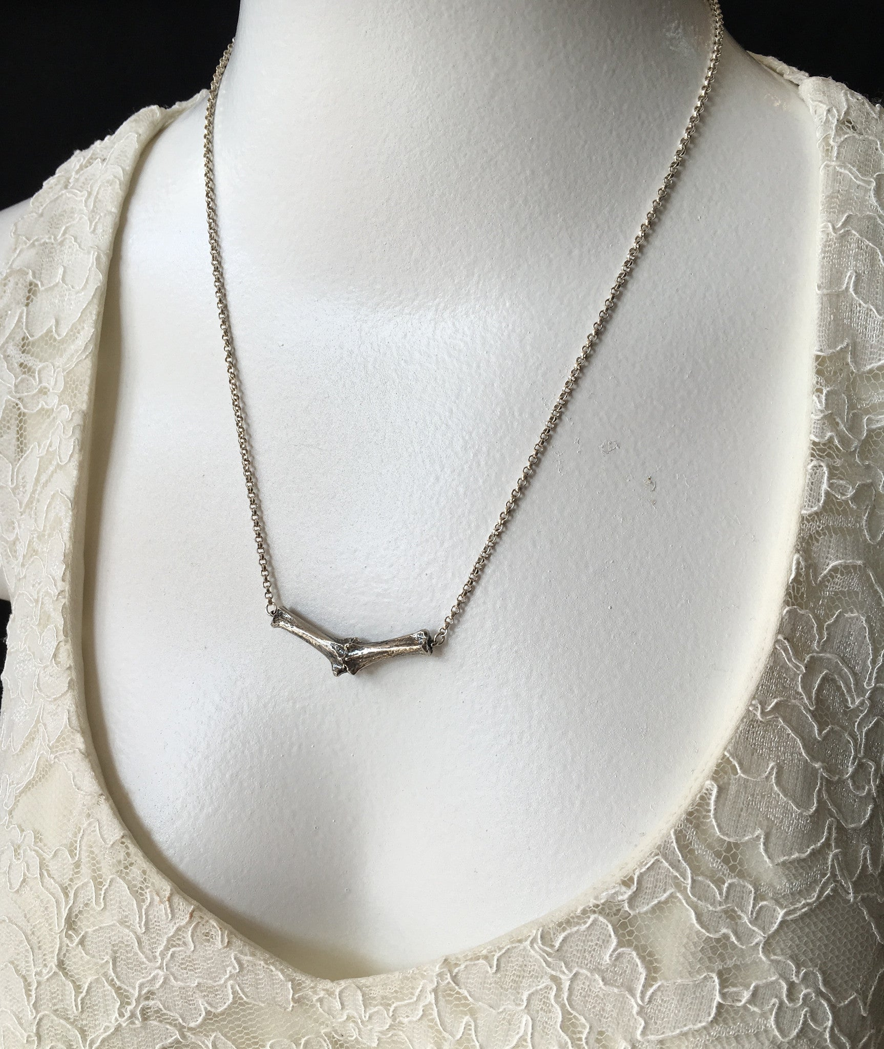 Cozen NYC Silver Bone Jointed Necklace