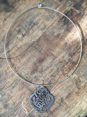 Ellen Durkan Large Symmetry Hoop Necklace