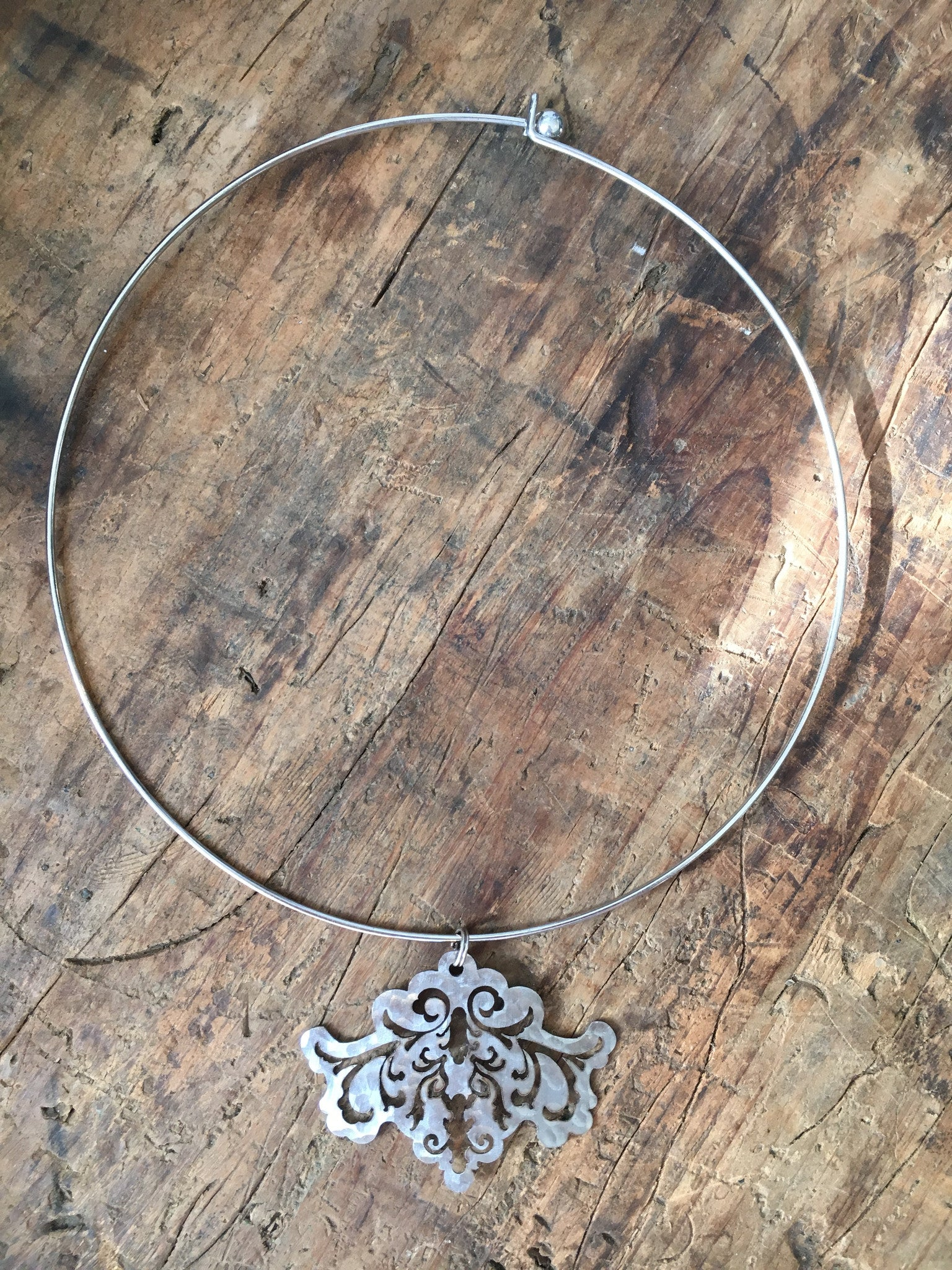 Ellen Durkan Organic Symmetry Hoop Necklace