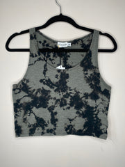 HE Collective Gray Dyed Crop Top