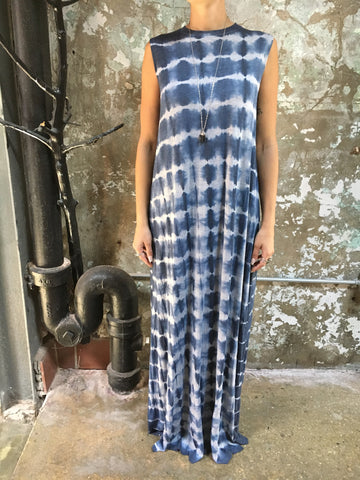 HE Collective Light Blues Hand Dyed Maxi